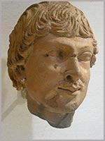 Голова мужчины. Гандхара. 4-5 в. н.э.