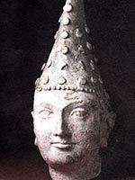 Голова принца Кушанского царства. Дальверзин-тепе, Узбекистан. 1 в. н.э.