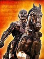 Плакат из фильма с памятником Шиваджи (Chatrpati Shivaji Maharaj)