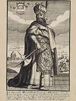 Великий Могол, император Индостана, гравюра Франсуа Жоллена