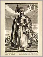 Аурангзеб или Аламгир I, Великий Могол, гравюра Франсуа Жоллена
