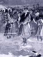 Танец кафирских женщин, посвящённый богам, пока мужчины в походе