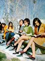 Иран при шахе Мохаммеде Реза Пехлеви. Студентки Тегеранского Университета, 1971 г.