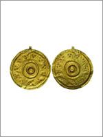 Золотая декоративная подвеска 8-7 в до н.э. Северо-запад Ирана
