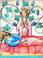 Миниатюра «сон Астиага», 1420-1440 гг., Мадрид, Национальная библиотека Испании