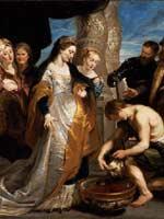 Картина Рубенса (1577-1640) «Царица Томирис перед головой Кира»