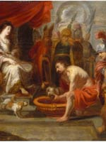 Картина Виктора Волфоета мл. (Victor Wolfvoet the Younger (1612-1652)). «Голова Кира принесена царице Томирис»