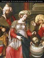 Картина «Королева Томирис с головой Кира» Михиля Кокси (1499-1592)