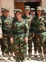 Женский батальон Першмерга из курдянок-езидок